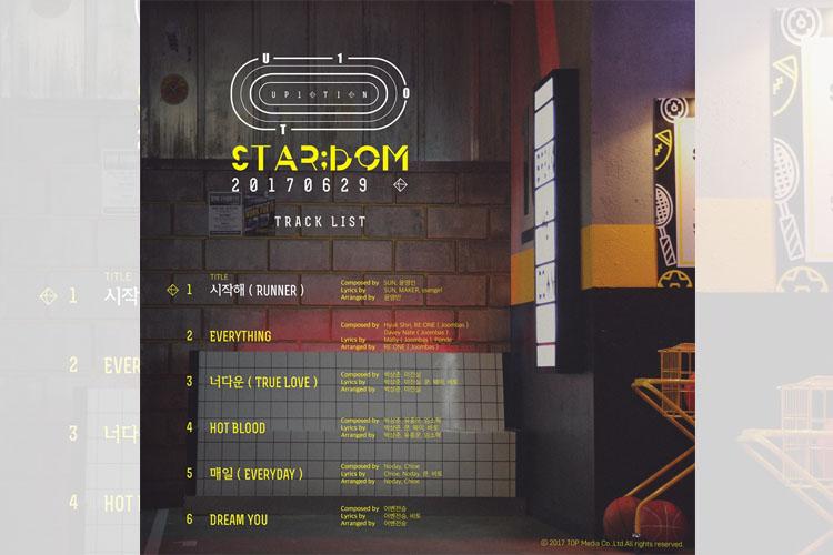 UP10TION、『STAR;DOM』トラックリスト公開!