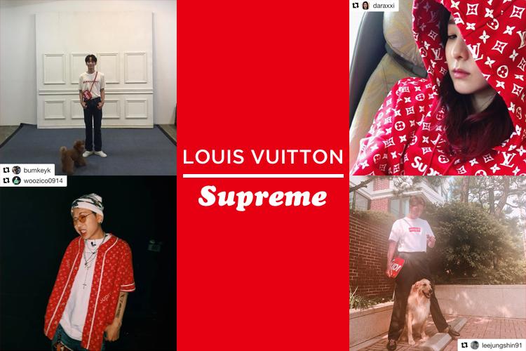 Louis Vuitton×Supremeコラボに韓国スターたちも夢中!