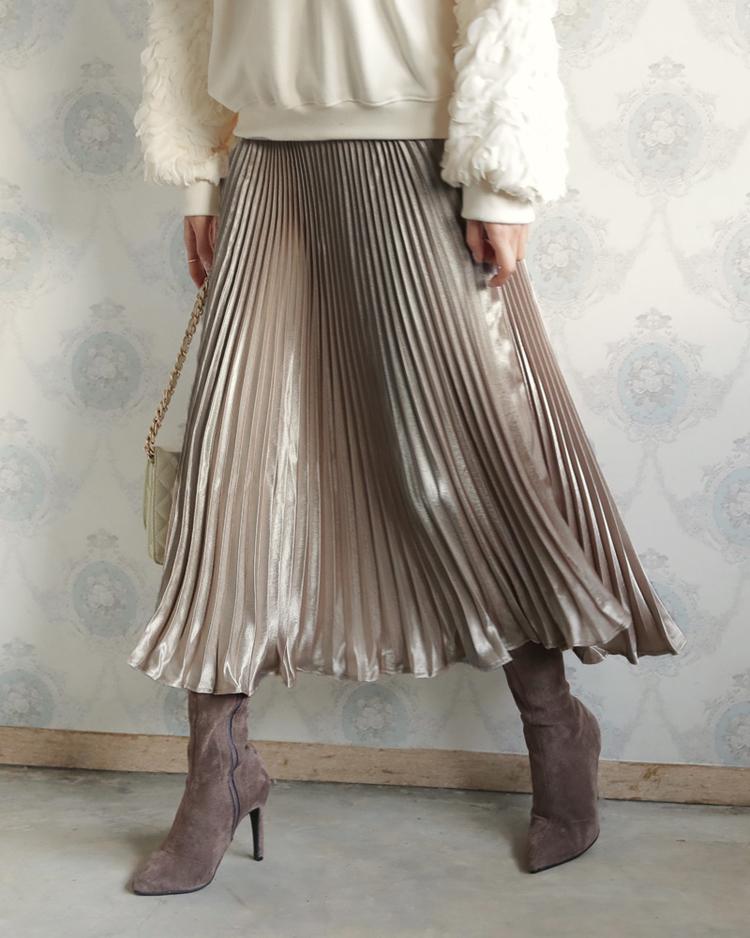 プリーツグロッシースカート1