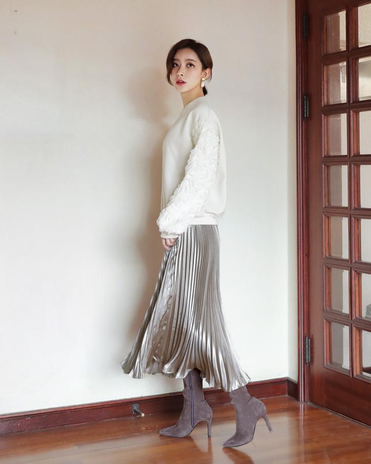 プリーツグロッシースカート2